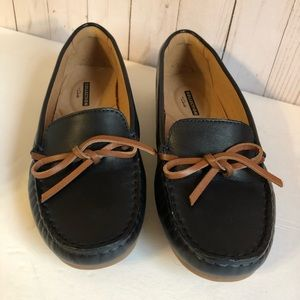 Clarks Dameo leather driving Moccasins